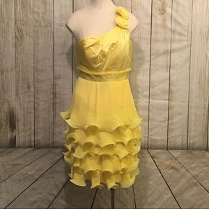 Phoebe Couture Yellow Silk Dress W/ Vintage Vibe